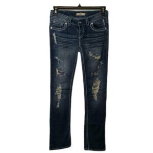 SILVER Manchester straight leg distressed jean 27